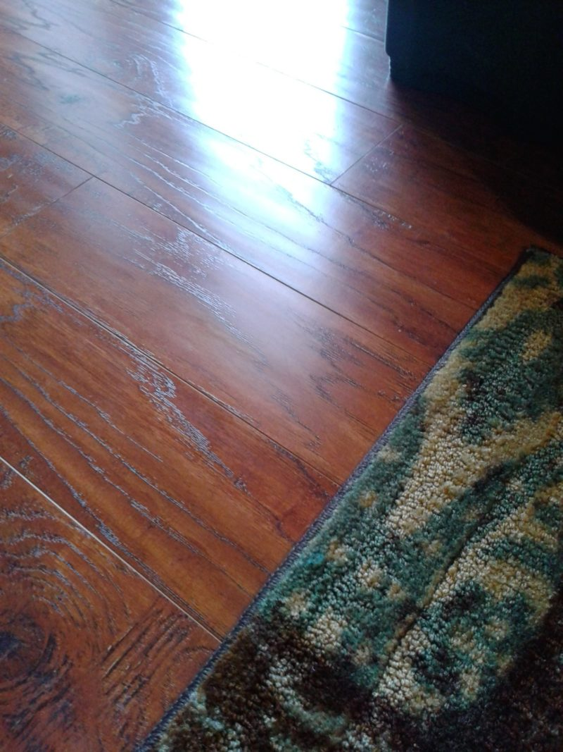 After Applying Homemade Hardwood Floor Cleaner - The Best Way To Clean Hardwood Floors... It's Also The Best Way To