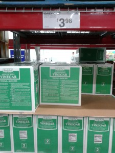 Vinegar cases at Sams Club