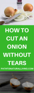 How to Cut an onion without tears. Simple trick works EVERY time!