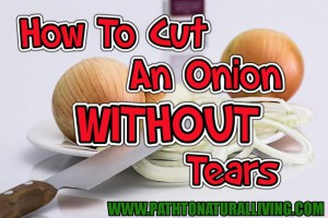 How to Cut an Onion Without Tears - the best way to cut an onion