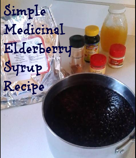 Medicinal Elderberry Syrup Recipe