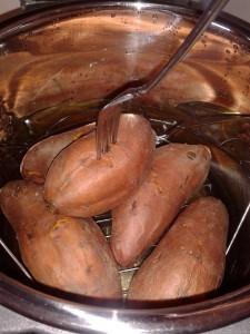 Baking Sweet Potatoes in Pressure Cooker