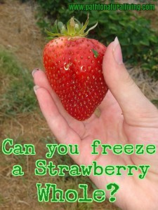 Can you Freeze a strawberry whole?