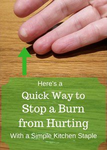 Here is a quick way to stop a burn from hurting